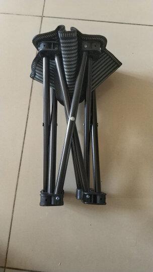 沃特曼Whotman 马扎折叠椅便携式小凳子钓鱼椅户外休闲马扎 小号 WY1775条纹黑 晒单图