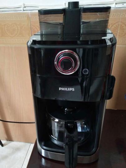 飞利浦(PHILIPS)咖啡机 家用全自动双豆槽自动磨豆预约功能咖啡壶 HD7762/00 晒单图