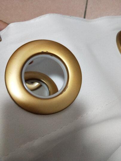 铭聚布艺窗帘成品简约现代高精密遮光卧室客厅定制窗帘布料 简约主义 咖啡色-打孔式 定制1.5米宽*2.65米高 晒单图