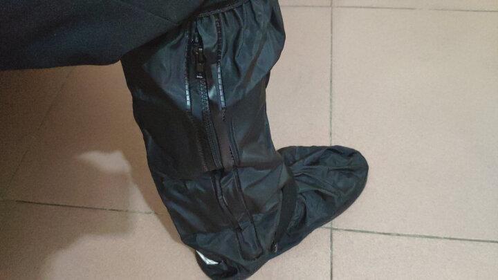 雨易思高筒防护脚套加厚防雨鞋套男女骑行防滑雨天防水鞋套雨靴黑色防水脚套 白色 M号底长28.5CM适合38-39 晒单图