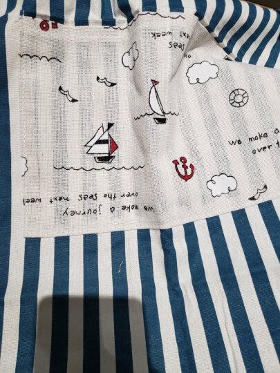 家の物语(KATEI STORY) 日本厨房亚麻绵围裙女款男款 防油防污围裙女 蓝色 晒单图