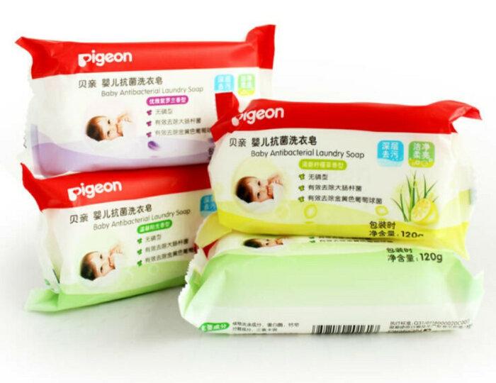 贝亲(Pigeon) 婴儿洗衣皂 婴幼儿肥皂 组合8块装 晒单图