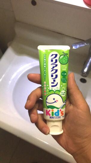 日本进口花王(KAO)儿童木糖醇可吞咽护齿牙膏哈密瓜味 70g/支 可吞咽 保护乳牙 晒单图