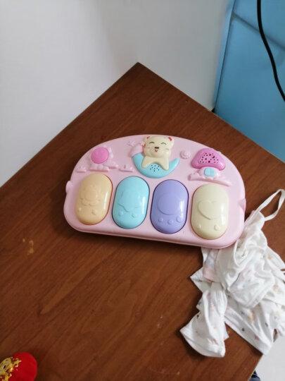 新生婴儿玩具0-1岁健身架器脚踏钢琴 遥控投影音乐游戏毯 宝宝脚踩玩具男孩女孩节日礼物 飞机充电版(王子蓝) 晒单图