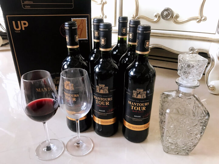 【超市红酒】曼妥思法国原瓶进口红酒宝塔干红葡萄酒礼盒750ml整箱6支装 晒单图