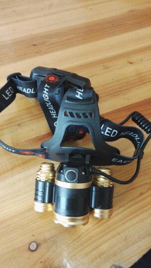 山拓 头灯强光远射户外防水超亮骑行可充电 挥手感应变焦头戴式手电矿灯狩猎T16普通款 晒单图