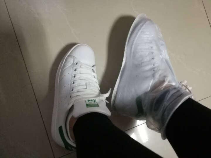 捷昇(JIESHENG) 雨靴雨鞋 男女通用防水防滑雨靴套加厚底pvc透明雨鞋 M码 晒单图