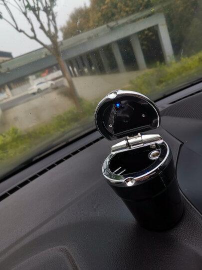 車格仕 车载烟灰缸带盖led灯 汽车用品创意通用车内杂物盒 黑色 福特翼虎 翼搏 晒单图