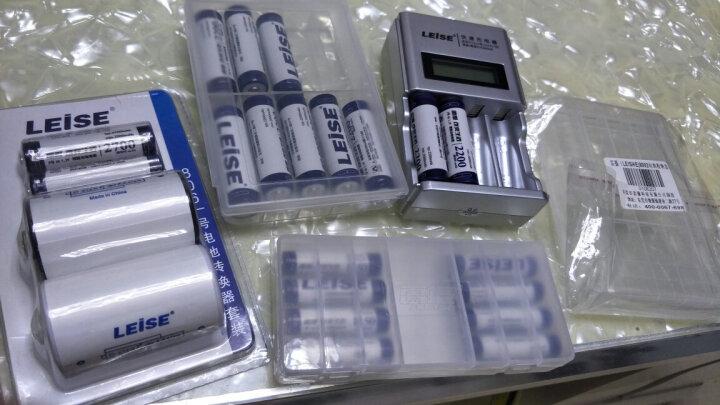 雷摄(LEISE)充电电池 9V280毫安九伏镍氢充电电池(二节装)适用:万用表/玩具遥控器/烟感探测器(无充电器) 晒单图