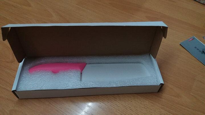 美瓷(MYCERA)陶瓷刀具厨房家用6.5寸切菜刀 厨师刀 蔬菜刀 单刀(桃红)EHG6.5P 晒单图