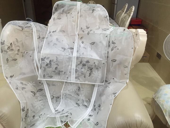 透明挂衣袋衣物防尘罩大衣防尘袋西装袋子衣服罩衣服套衣罩防尘套 水墨花 中号(60*110cm) 晒单图