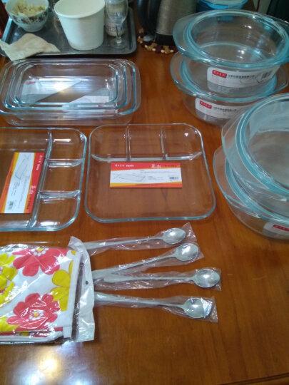 菲内克斯 钢化玻璃盘微波炉烤箱专用实用耐热鱼盘玻璃盘子烤盘 三件套1L 1.5L 2L 晒单图