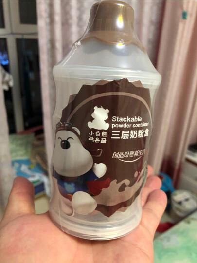 小白熊(Snow Bear)便携奶粉储存盒 婴儿独立可拆奶粉格 09225 晒单图