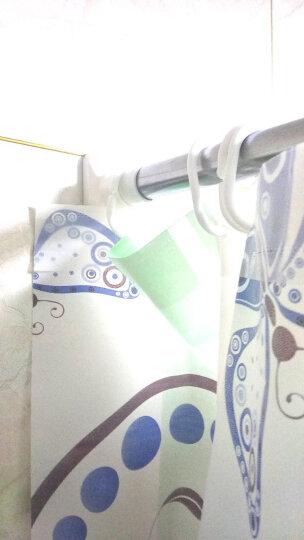 美居客 浴帘杆 窗帘杆 衣柜撑杆 不锈钢伸缩晾衣杆免打孔浴室帘杆门帘杆置物杆单杆(1.1m-2m) 晒单图