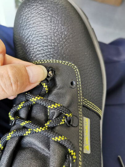 代尔塔 / DELTAPLUS 301101 中帮安全鞋防砸防穿刺 防静电防滑耐油 黑色 39 1双 晒单图