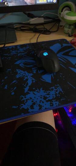 灵蛇(LINGSHE)超大鼠标垫 超大游戏鼠标垫 超大加厚键盘垫 电竞游戏鼠标垫 办公桌鼠标垫P05黑蓝 晒单图