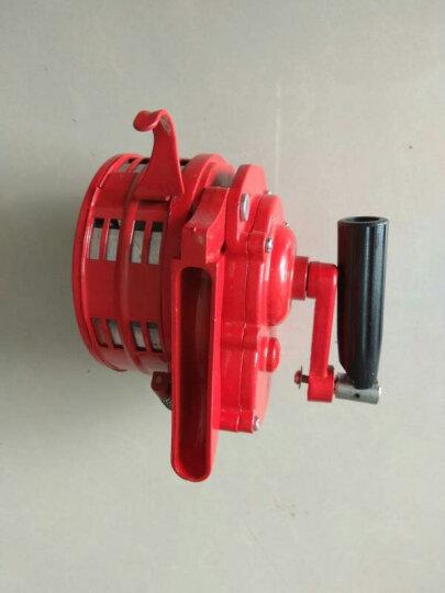 手摇报警器固定式高分贝防火防空报警器便携手动式警报器 训练演习用 红色 手摇报警器 晒单图