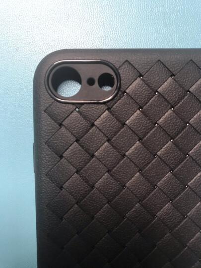 倍思(Baseus)苹果7/8手机壳iPhone7/8编织高端手机套散热透气防摔保护套手机全包皮套男女款软壳 4.7英寸 黑 晒单图