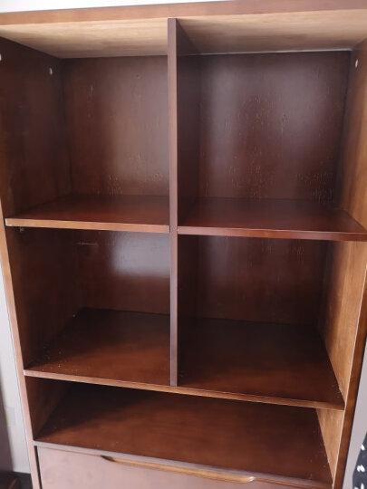 丽巢 家具 橡胶木实木 衣柜中式四门衣柜加顶柜底抽田园简约木衣橱818 原木色 四门衣柜 晒单图