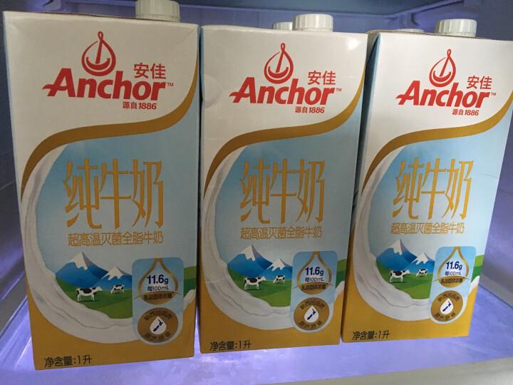 新西兰原装进口牛奶 安佳Anchor全脂牛奶UHT纯牛奶1L*12 整箱装 晒单图