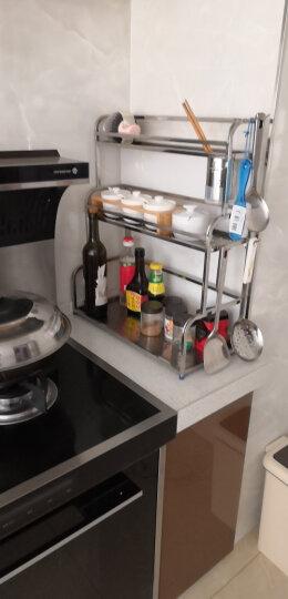 雅怡洁 不锈钢三层厨房置物架落地壁挂收纳架调料架刀架厨房用品筷子筒 两层35CM带筷筒(无砧板架)+4钩 晒单图