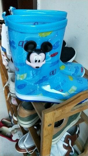 迪士尼儿童雨鞋男女童学生防水鞋中筒防滑宝宝雨靴 MP16152宝蓝 32码/鞋垫长20.9cm-适合33/34码 晒单图