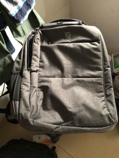 维多利亚旅行者 VICTORIATOURIST 双肩包电脑包15.6英寸 男商务防水双肩背包V9006灰色 晒单图
