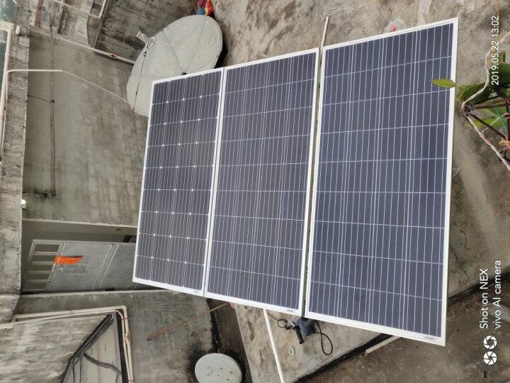 星火 150W太阳能电池板 多晶太阳能电池板 12V发电系统蓄电池充电专用 晒单图