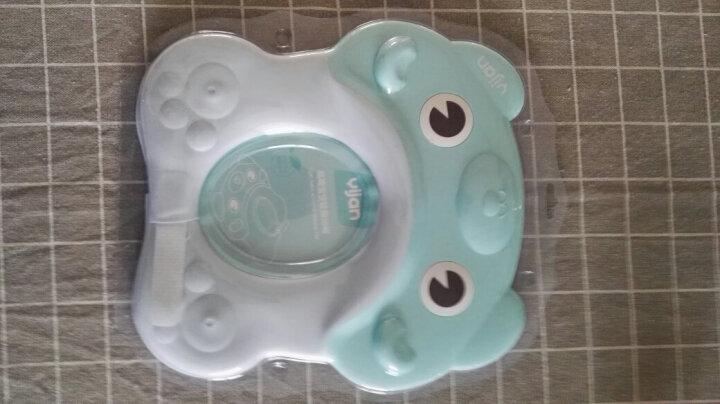 易简(yijian)婴儿儿童可调节洗头帽  宝宝防水护耳洗澡帽 薄荷绿 晒单图
