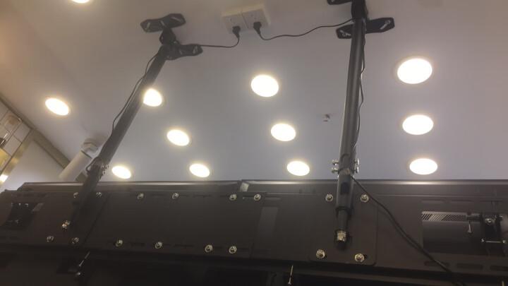 艾美仑【拼接】商用多屏液晶电视机吊架重载升降商店广告吊顶支架双屏三屏四屏显示器一体机激光电视吊装挂架 配件 (0.5米吊管延长杆)+螺丝螺帽 晒单图