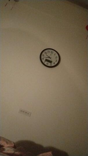 北极星 挂钟客厅静音时尚简约挂钟日历显示LED 2901石英钟 简约款 红木色 晒单图