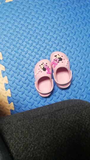 迪士尼 Disney 拖鞋 儿童凉拖鞋宝宝洞洞鞋防滑家居鞋099粉色15码内长14.5cm 晒单图