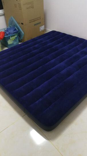 INTEX 充气床垫双人特大203x183x22cm 蓝色植绒加厚气垫床户外野营帐篷防潮垫子 68755 晒单图
