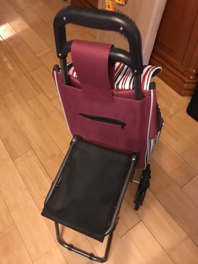 带凳折叠爬楼车 购物车 带凳买菜车 带椅子行李车 旅行车 小拖车 多用小车礼物礼品 随机颜色套装 购物车 晒单图