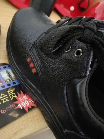 老管家 088 劳保鞋男牛皮耐磨工作鞋防砸防刺穿耐酸碱功能鞋可定制LOGO 黑色 黑色 39 晒单图