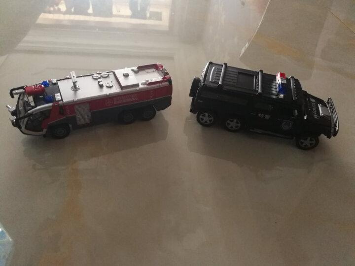 凯迪威 工程车仿真模型汽车吊车合金车模儿童男孩玩具翻斗车卡车消防车宝宝玩具 水枪消防车 晒单图