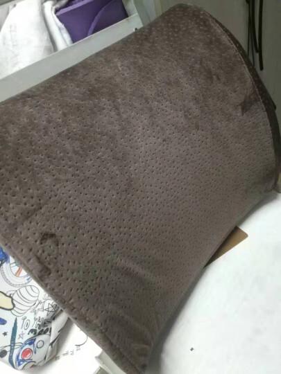 汉妮威 记忆棉 办公室腰靠 靠枕 靠垫 椅子腰垫 沙发靠垫 8HP080505湖蓝色 晒单图