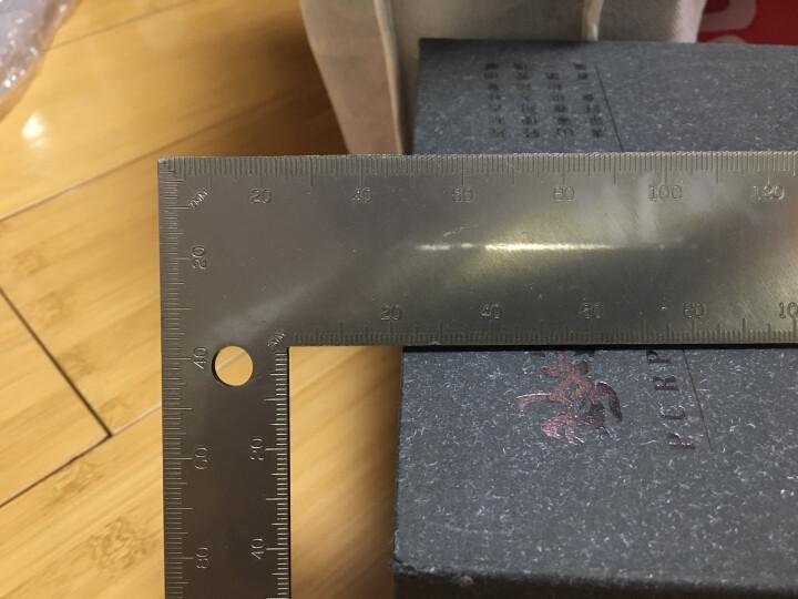 钢盾(SHEFFIELD)S079001 不锈钢直角尺 双面刻度90度角尺防锈耐磨木工尺子 200x300mm 晒单图