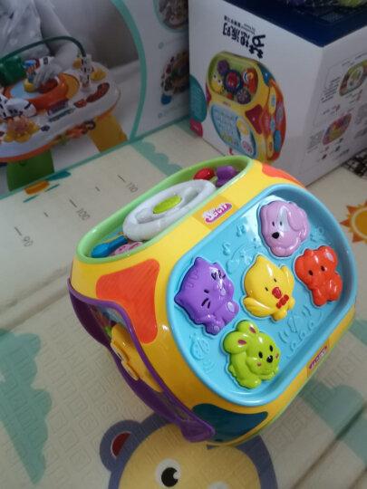 谷雨婴儿玩具1-3岁幼儿宝宝多功能早教游戏桌双语学习桌儿童益智力开发玩具台小孩礼物0-1周岁2岁绕珠 优惠套装2(谷雨游戏桌+谷雨声光手拍鼓) 晒单图
