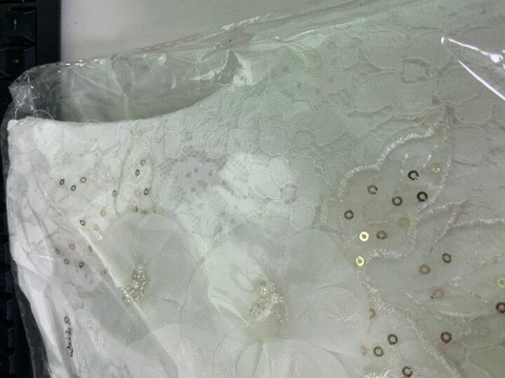灵雀 女童公主裙夏天蓬蓬纱裙夏季中大童白色夏装新款童装金色亮片礼服裙 LQ17177粉色 140码建议身高125-135cm 晒单图