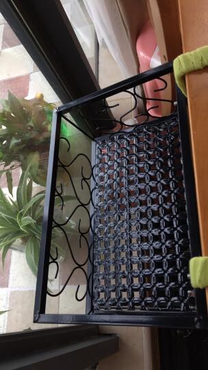 悠花家居铁艺阳台花架栏杆挂式花盆架置物架欧式护栏窗户窗台挂钩悬挂防盗网多肉简约省空间室内客厅花架子 黑色 长30*宽20*高12cm 晒单图