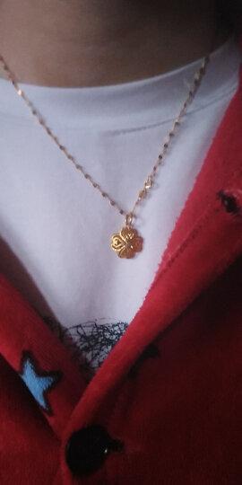 凯蒂琦珠宝18k彩金项链女款金链子au750玫瑰金项链18k金项链嘴唇项链 18k黄金 42CM(约1.15克)宽约1.8mm 晒单图