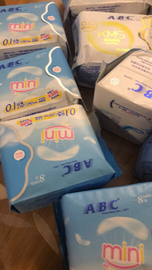 ABC KMS棉柔系列 0.1cm轻透薄日用卫生巾240mm*8片(新老包装随机发货) 晒单图
