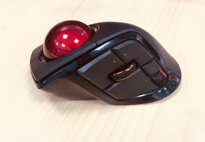 宜丽客(ELECOM)日本无线轨迹球鼠标蓝牙有线usb人体工程学设计师达芬奇CAD画图 5拇指轨迹球 晒单图