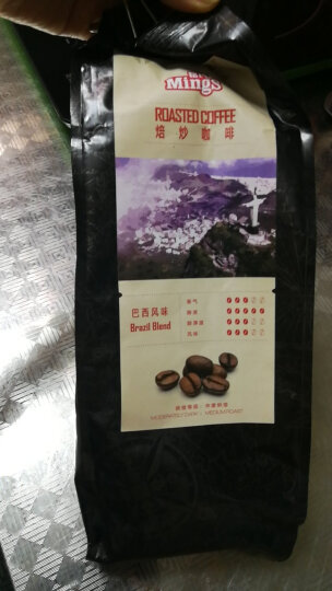 Mings铭氏 精选系列 巴西风味咖啡豆500g 进口生豆拼配 晒单图