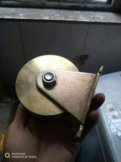 V型轮U型轮钢丝轨道轮轴承滑轮槽轮轨道滑轮定滑轮U槽滑轮小滑轮钢丝滑轮铁门滑轮直线轮定向轮 4寸U型轨道轮 晒单图