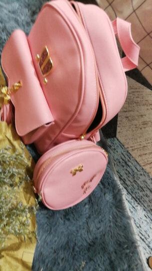 小憨象   可爱公主儿童双肩包 小学生书包韩版潮时尚女童背包小女孩休闲旅游 女生包包四件套 粉色 晒单图