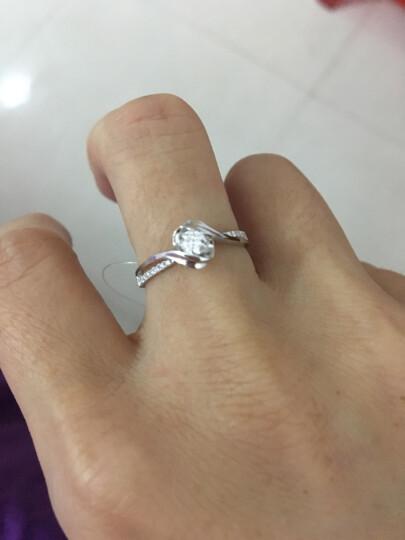 佐卡伊 邂逅 钻戒钻石结婚女戒求婚戒指 半克拉效果H/SI 现货闪发 晒单图