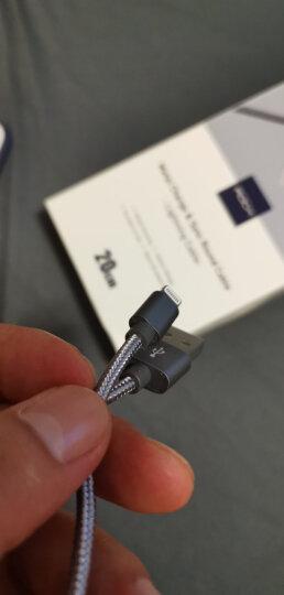 ROCK 苹果数据线 金属编织快充手机充电器线 支持iPhone11Pro/新SE/XS/XR/8Plus/7/6s/5s/iPad 0.2米 星空灰 晒单图