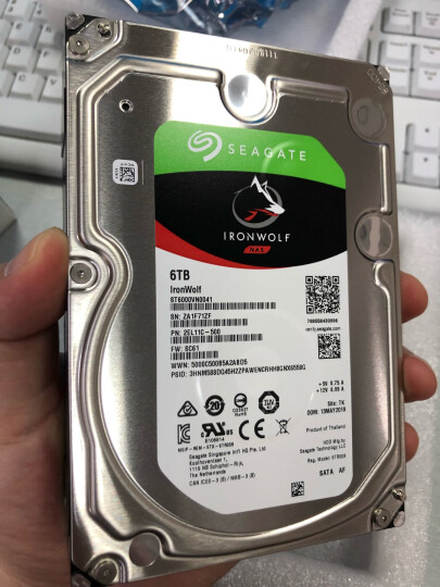 希捷(Seagate)4TB 64MB 5900RPM 网络存储(NAS)硬盘 SATA接口 希捷酷狼IronWolf系列(ST4000VN008) 晒单图
